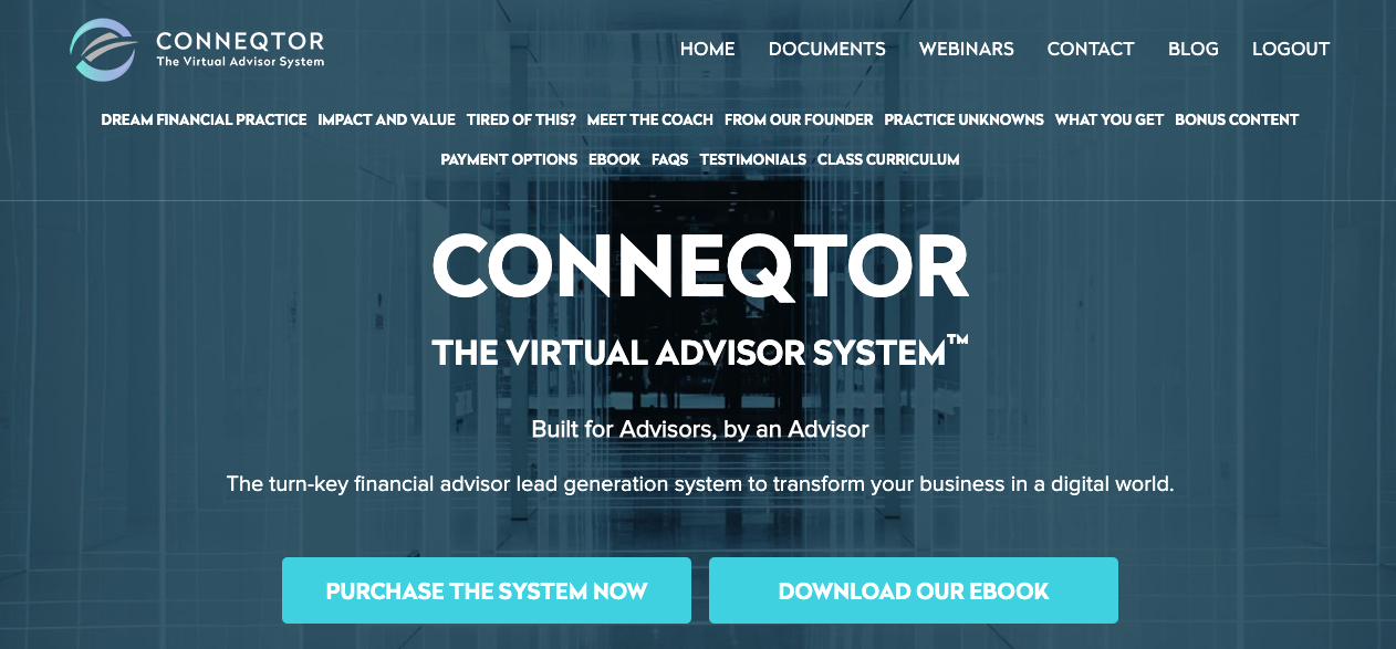 virtual advisor system, website, virtual financial advisor website