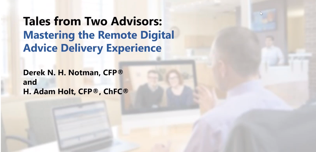 Mastering the Remote Digital Advice Delivery Experience – Asset-Map webinar replay