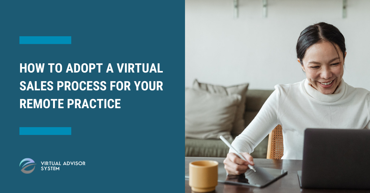asian woman adopting a virtual sales process for her remote practice